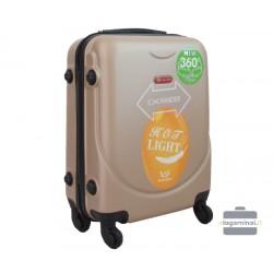 Mažas plastikinis lagaminas Gravitt 310A-M Šampaninis