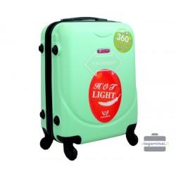 Mažas plastikinis lagaminas Gravitt 310A-M Šviesiai žalias