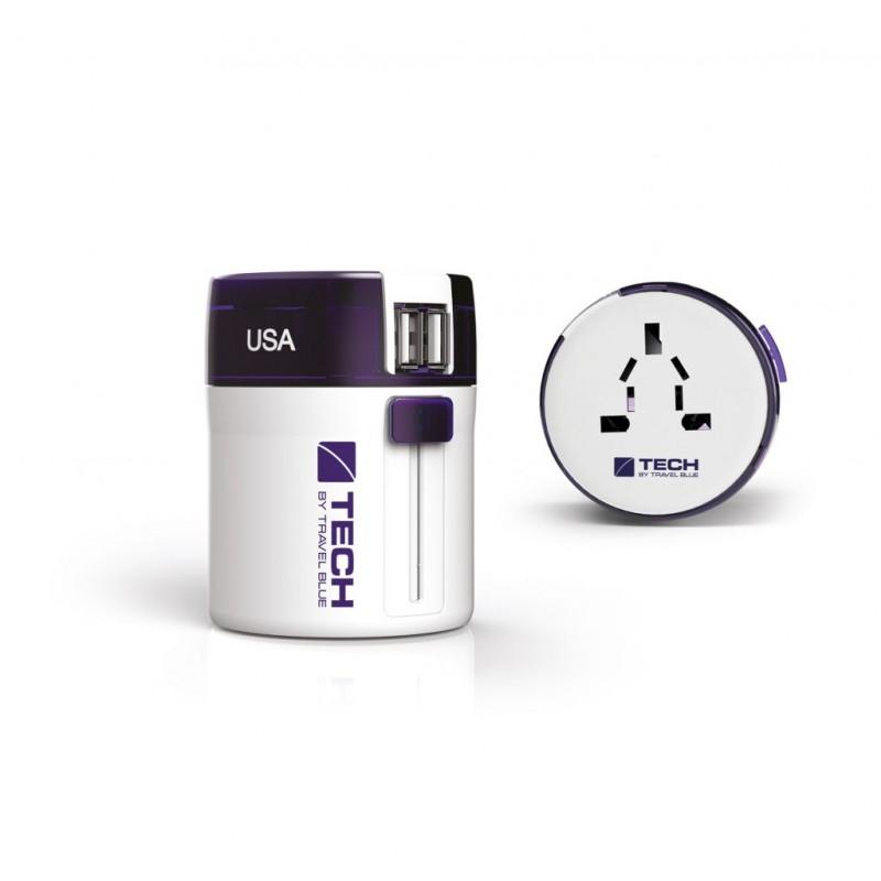 5in1 Universalus kokybiškas kelioninis adapteris rozetėms UK, USA, EU, AUS, CHI