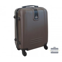 Mažas plastikinis lagaminas Gravitt 168A-M Rudas
