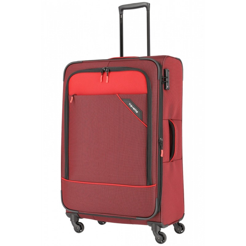 Didelis medžiaginis lagaminas Travelite Derby D Raudonas