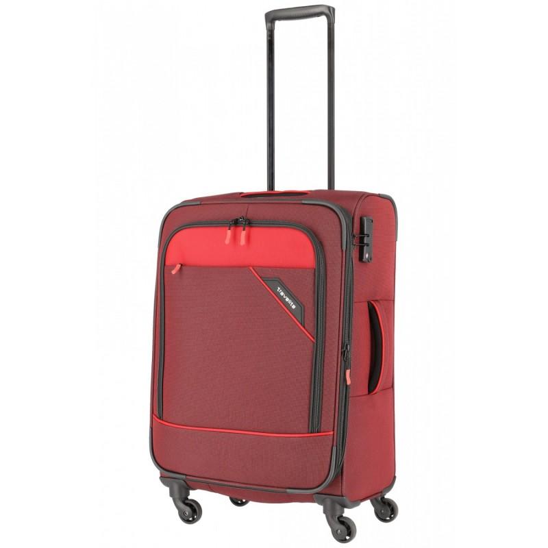 Vidutinis medžiaginis lagaminas Travelite Derby V Raudonas