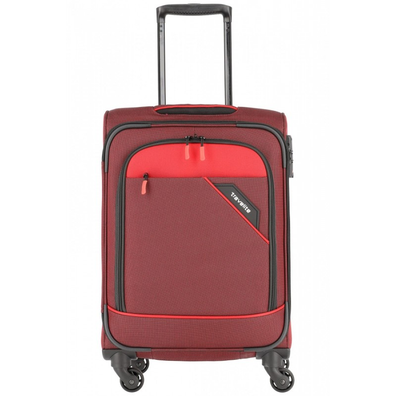 Mažas medžiaginis lagaminas Travelite Derby M Raudonas