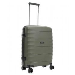 Mažas plastikinis lagaminas Titan Highlight-M Chaki spalva