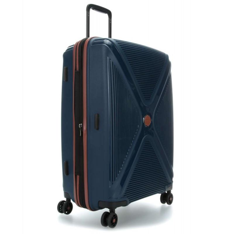 Vidutinis plastikinis lagaminas Titan Paradoxx-V Mėlynas