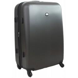 Didelis plastikinis lagaminas Gravitt 866-2Z-D Tamsiai pilkas