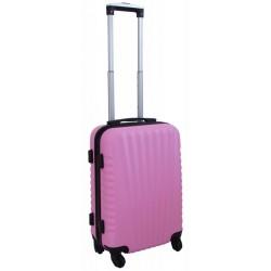 Mažas plastikinis lagaminas Gravitt 888-M Rožinis