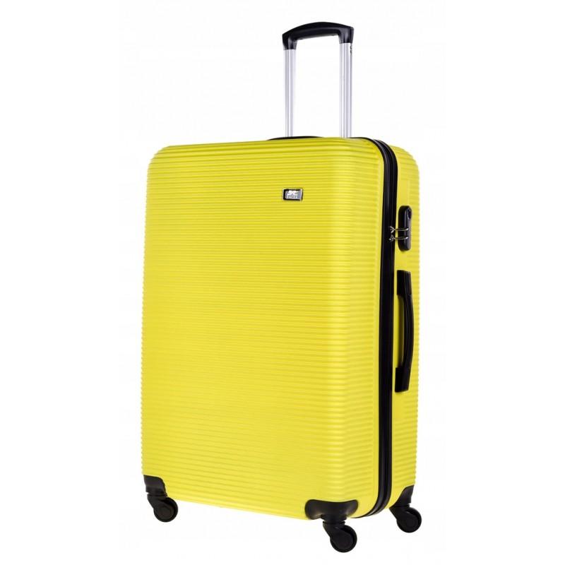 Didelis plastikinis lagaminas Bagia 8080-D Geltonas