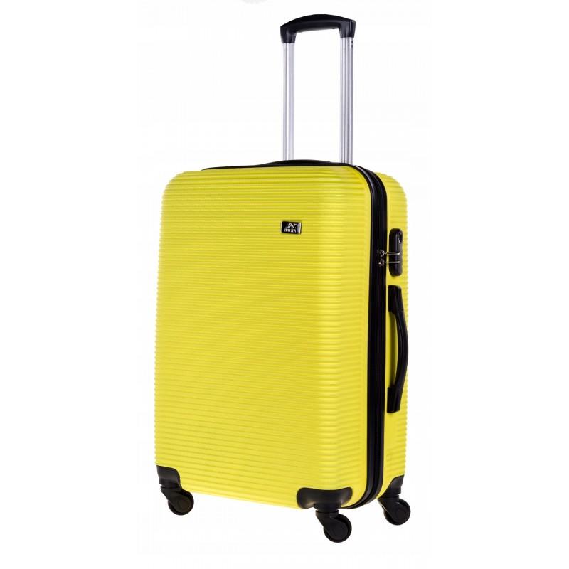 Vidutinis plastikinis lagaminas Bagia 8080-V Geltonas