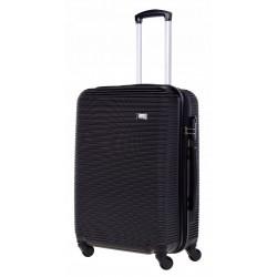 Vidutinis plastikinis lagaminas Bagia 8080-V Juodas