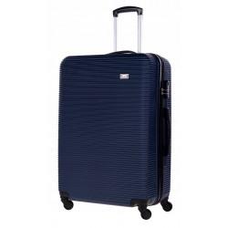 Didelis plastikinis lagaminas Bagia 8080-D Tamsiai mėlynas