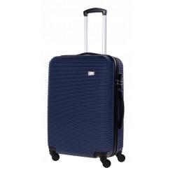 Vidutinis plastikinis lagaminas Bagia 8080-V Tamsiai mėlynas