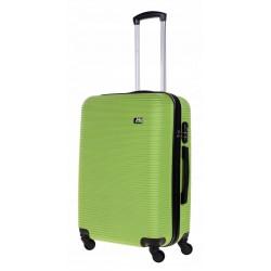 Vidutinis plastikinis lagaminas Bagia 8080-V Žalias