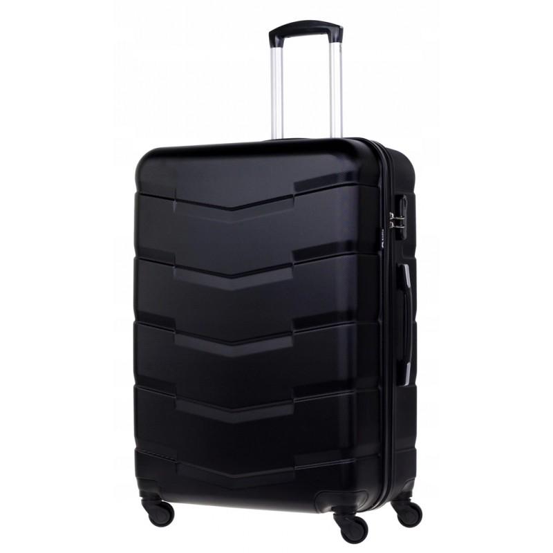 Didelis plastikinis lagaminas Bagia 8090-D Juodas