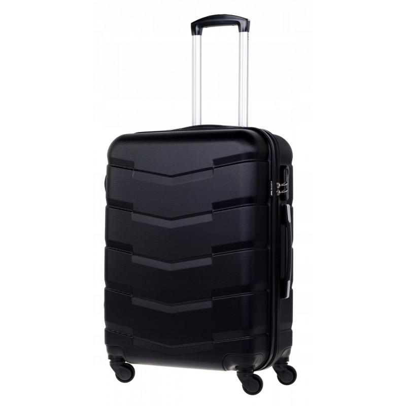 Vidutinis plastikinis lagaminas Bagia 8090-V Juodas