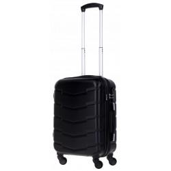 Mažas plastikinis lagaminas Bagia 8090-M Juodas