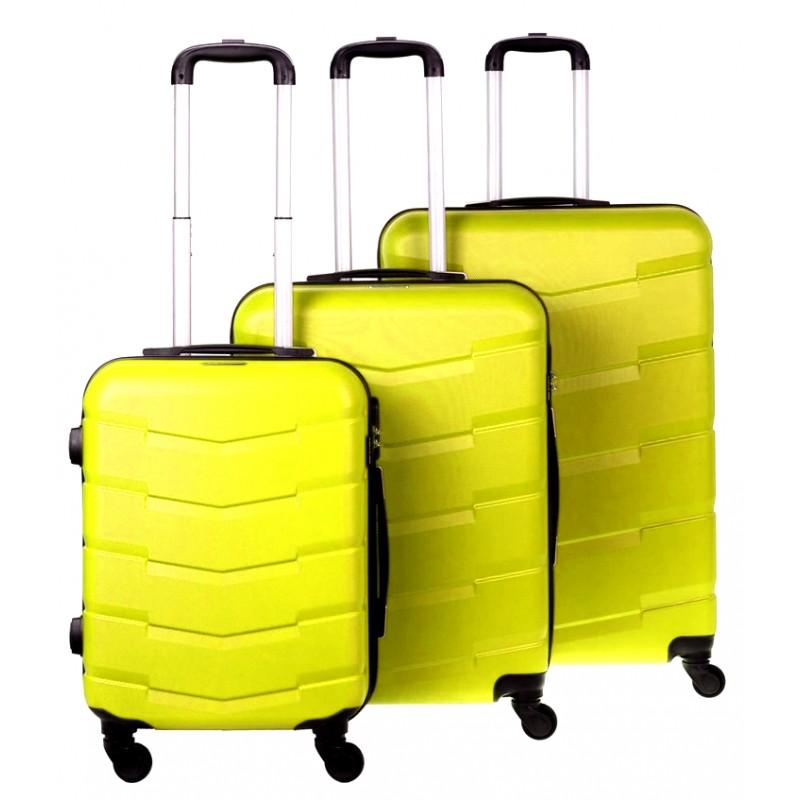 Vidutinis plastikinis lagaminas Bagia 8090-V Geltonas