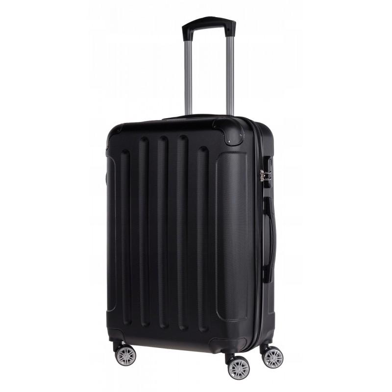 Vidutinis plastikinis lagaminas Bagia 839-V Juodas