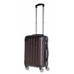 Mažas plastikinis lagaminas Bagia 839-M Rudas