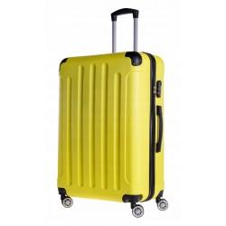 Didelis plastikinis lagaminas Bagia 839-D Geltonas