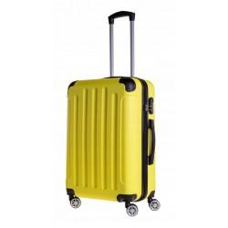 Vidutinis plastikinis lagaminas Bagia 839-V Geltonas