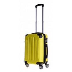 Mažas plastikinis lagaminas Bagia 839-M Geltonas