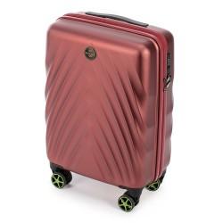 Mažas plastikinis lagaminas Wittchen 56-3P-801 Bordo spalva