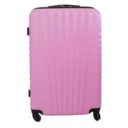 Vidutinis plastikinis lagaminas Gravitt 888-2Z-V Rožinis