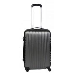 Vidutinis plastikinis lagaminas Gravitt 888-2Z-V Tamsiai pilkas