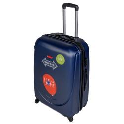 Vidutinis plastikinis lagaminas Gravitt 310-2Z-V Tamsiai mėlynas