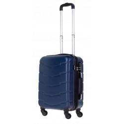 Mažas plastikinis lagaminas Bagia 8090-M Tamsiai mėlynas