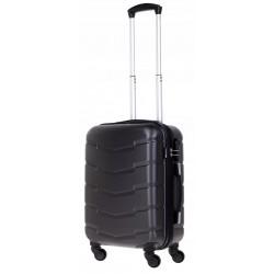 Mažas plastikinis lagaminas Bagia 8090-M Tamsiai pilkas