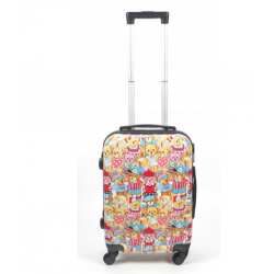 Mažas plastikinis lagaminas Bagia Teddy Bear M