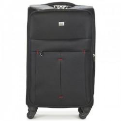 Vidutinis medžiaginis lagaminas David Jones 5028-D juodas