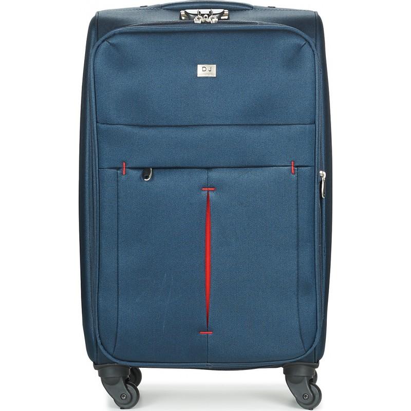 Vidutinis medžiaginis lagaminas David Jones 5028-D  tamsiai mėlynas