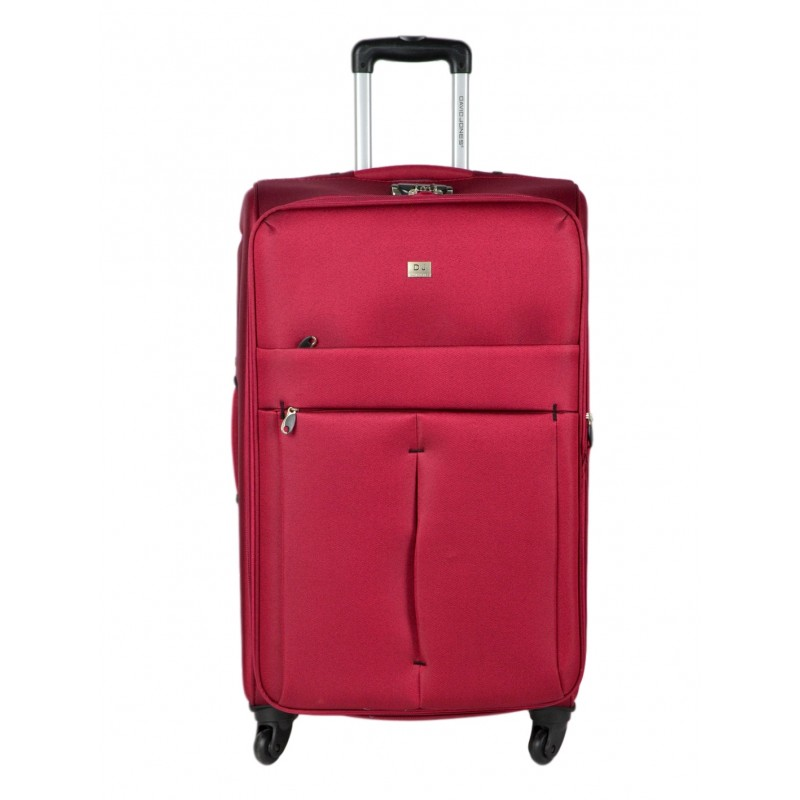 Vidutinis medžiaginis lagaminas David Jones 5028-D raudonas