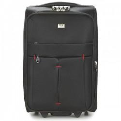 Mažas medžiaginis lagaminas David Jones 5028-D juodas