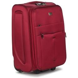 Mažas medžiaginis lagaminas David Jones 5028-D raudonas