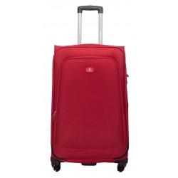 Didelis medžiaginis lagaminas David Jones 2000-D raudonas