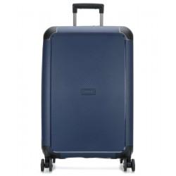 Vidutinis plastikinis lagaminas Titan Compax-V Mėlynas
