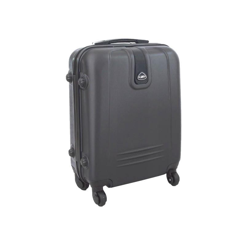 Mažas plastikinis lagaminas Gravitt 168A-M Tamsiai pilkas