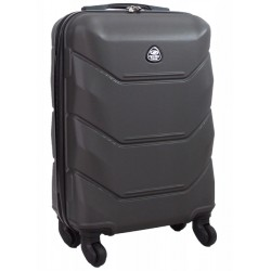 Mažas plastikinis lagaminas Gravitt 950-M Tamsiai pilkas